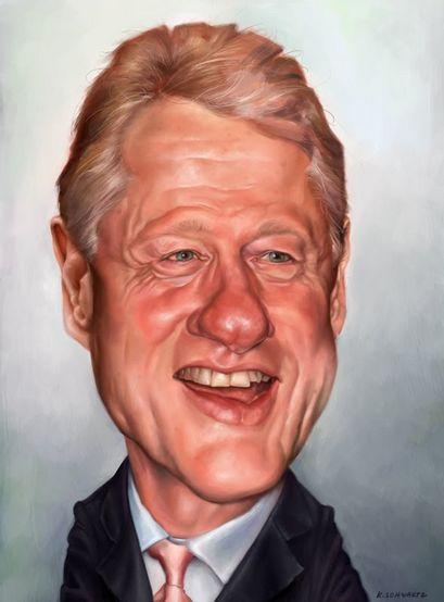 [ Bill Clinton ] - artist: Kacey Schwartz - website: http://kaceyschwartz.blogspot.com/