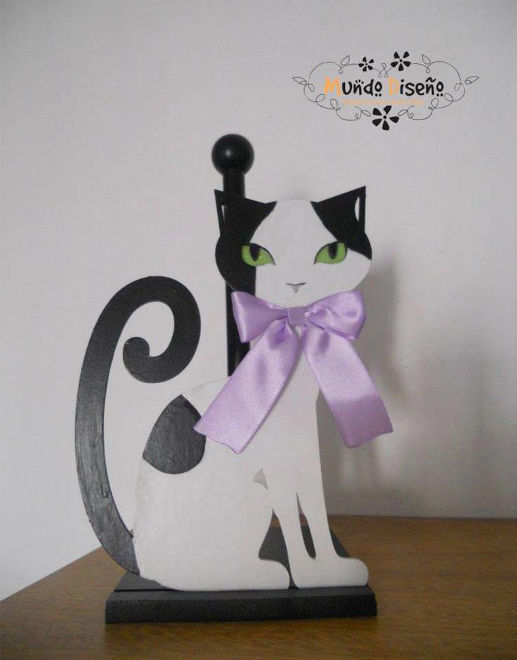 Porta Rollo Cocina - Modelo Cat, $120 en https://ofeliafeliz.com.ar