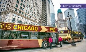 Groupon - 24- or 48-Hour Kid or Adult Ticket for a Hop On, Hop Off Chicago Bus Tour from Big Bus Tours in Big Bus Tours-Chicago. Groupon deal price: $39