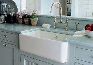 Rohl Shaws Sinks Original Fireclay Apron Sink 18'' L x 30'' W x 10'' D - RC3018 - farmhouse - Kitchen Sinks - New York - Quality Bath