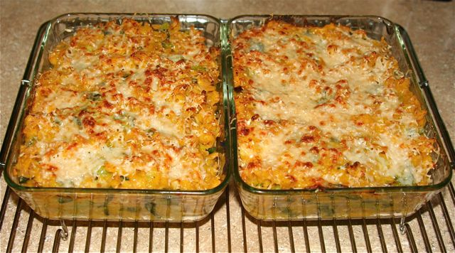 Savoury Squash casserole- Made this with Butternut squash and gluten free penne, and mozzerrella. Delicious and creamy!