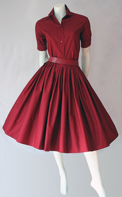 50s Miss Pat red skirt and shirt full length, I just want a whole closet of these in different colors :)