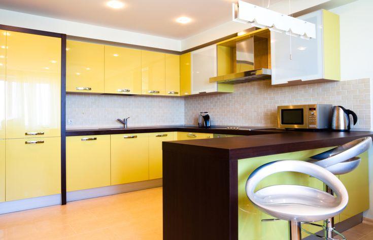 Kuchyně Delta žlutá a wenge DM  #kuchyne #kichen #kuchynenamiru #kuchynedou #gorenje #zlutekuchyne #wenge #interier #modernikuchyne #modernibydleni