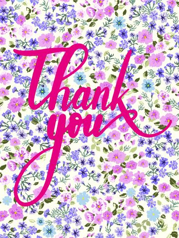 Petite Flower Thank You Card: This fun card is a can't-miss. Whether you're sending out thank you cards after a party, or thanking someone for thinking of you, this gold glitter card is bound to make anyone smile. Just look at that fun, bright background!