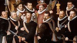 Officieren en vaandeldragers van de Jonge Schutterij, Frans Menton (1605)