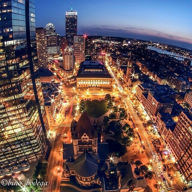 Beautiful shot of Boston's Back Bay Copley Square
