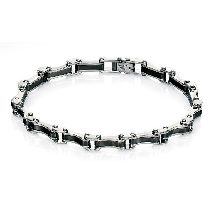 Fred Bennett Stainless Steel Bracelet with Black PVD