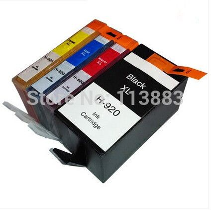 Full ink FOR HP920 XL 920 920XL compatible ink cartridge For HP Officejet 6000 /6500/6500 /6500A /7000/7500/7500A with chip