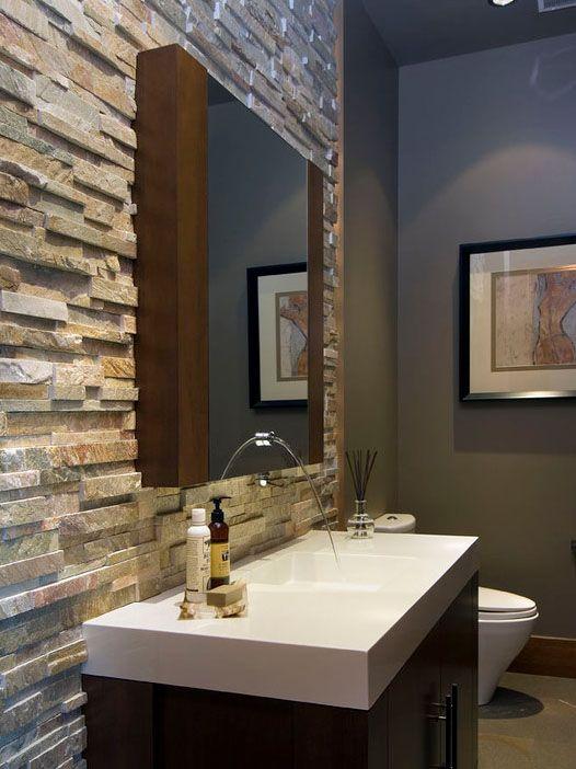 Stone Bathroom Wall