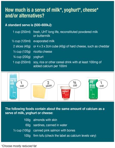 Milk, yoghurt, cheese and/or their alternatives ( mostly reduced fat )   Eat For Health