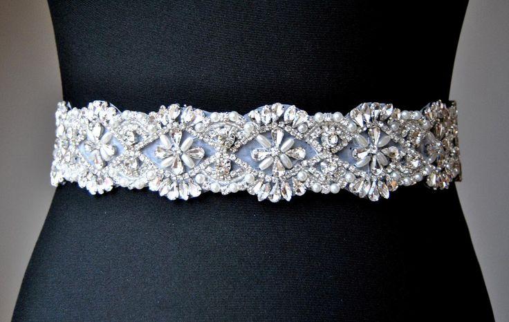 "20"" Wedding Dress Sash Belt, Luxury Crystal Bridal Sash, Rhinestone Sash,  Rhinestone Bridal Bridesmaid Sash Belt, Wedding dress sash by FabulousStyleDesign on Etsy https://www.etsy.com/listing/257188901/20-wedding-dress-sash-belt-luxury"