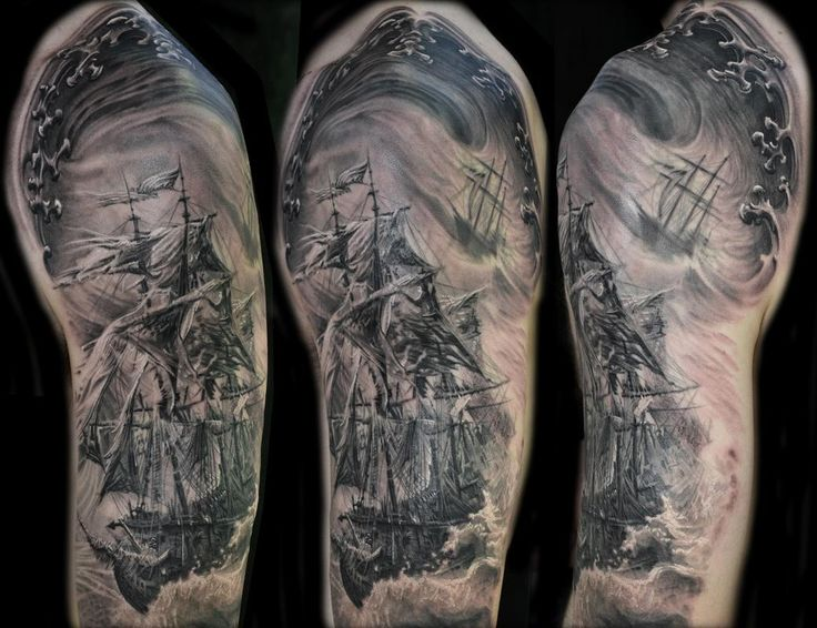 14 best pirate or ghost ship tattoos images on pinterest. Black Bedroom Furniture Sets. Home Design Ideas