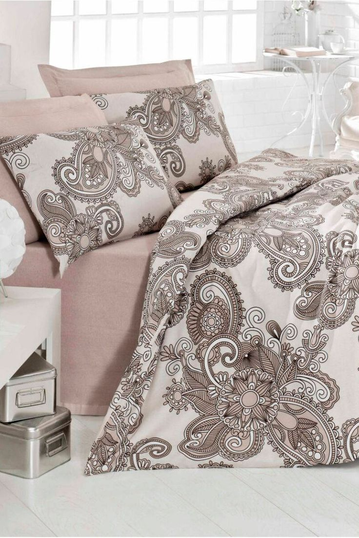 vente dreamnights 22744 linge de lit motifs fantaisie parure de couette onecolor marron. Black Bedroom Furniture Sets. Home Design Ideas