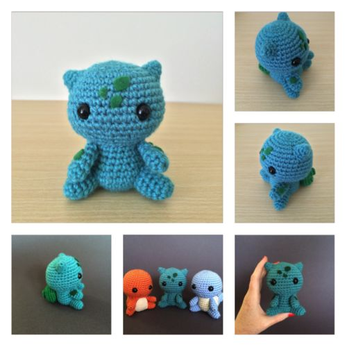 I was Pokemon crazy as a kid (let's get real, I still am), the original starter Pokemon will always have a special place in my heart and I've seen so many great amigurumi, I had to try my hand at my...