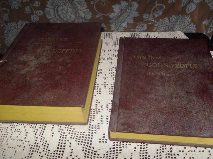 VINTAGE THESE WERE GOD'S PEOPLE BIBLE HISTORY & LAYMANS BIBLE DICTIONARY 1966