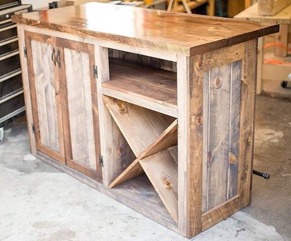 Rustic Bar / Wine Bar / Liquor Cabinet / Dry Bar / Wine Storage