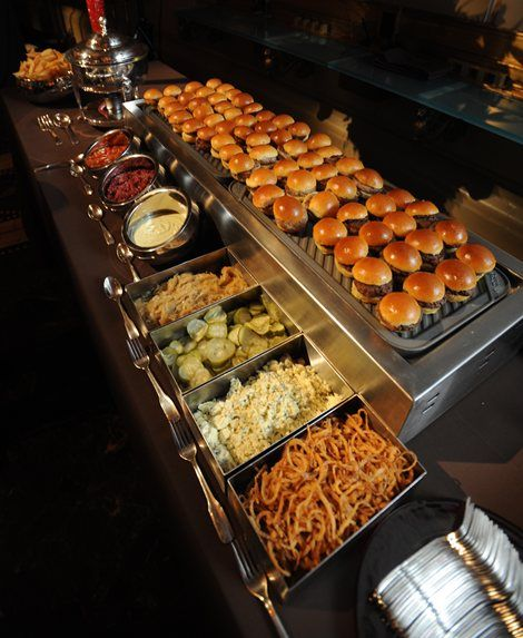 slider buffet - yum! Glorious buffet!