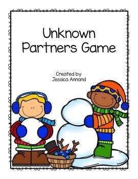 This game goes along with Math Expressions Unit 3 for 1st grade.  Students will roll a die. They will write the first number on the line. The total is already written, so students need to find the unknown partner after they roll.  Great for a center or a partner activity.   Great No-Prep activity.