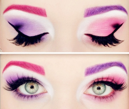 pink halloween eye makeup