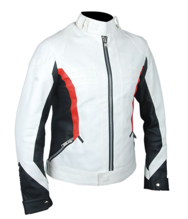 """F&H Boy's White Overwatch Soldier 76 John """"Jack"""" Morrison Jacket M Multi. Premium Quality Synthetic Leather. Polyester + Satin Lining with 2 Inside Pockets. Original YKK Zipper. 30 Day Returns & Exchange, 100% Money Back Guarantee. International buyers may be required to pay import duties as levied by their government."""