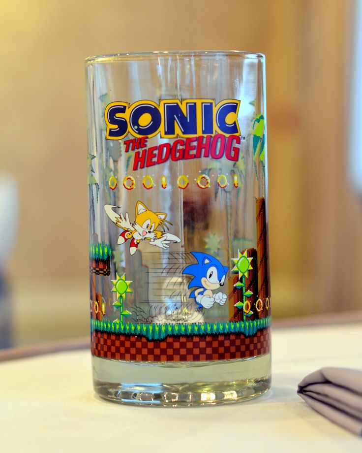 We used these oversized Sonic mugs as our toasting glasses