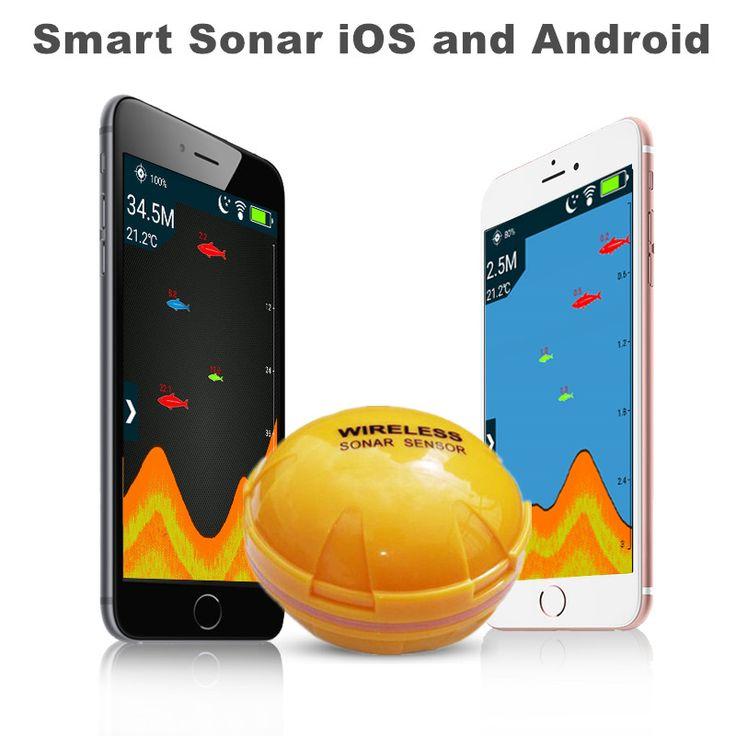 Беспроводной Bluetooth Smart Рыболокаторы для iOS и Android эхолот Sonar Echo Sonar эхолот приложение 50 м/130ft морская рыба обнаружить купить на AliExpress