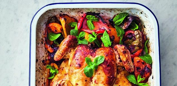 Jamie Oliver's 5-ingredient harissa chicken traybake | Food24