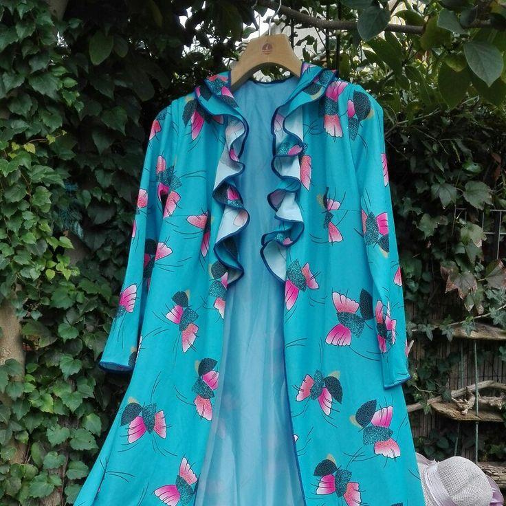 Dressing gown vestaglia anni 70vintage psichedelico