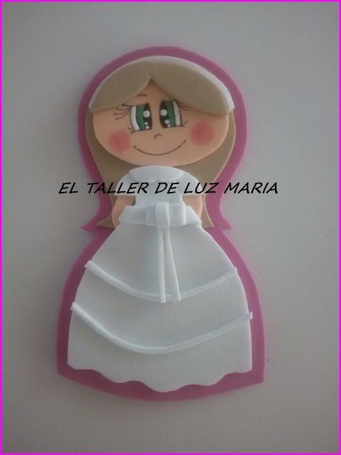 EL TALLER DE LUZ MARIA: IMANES PARA DETALLES DE COMUNIÓN