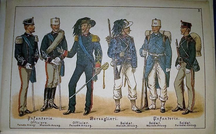 1895 Die Italienische Armee , Verlag von Mortiz Ruhl