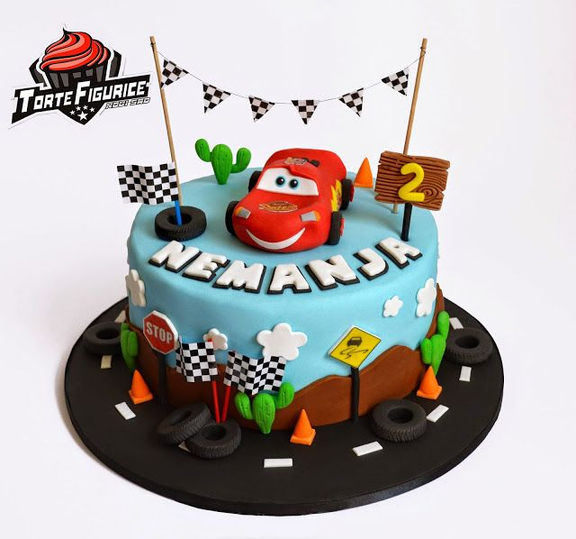 Figurice za torte  (cake decorations): Torta i figurice CARS (CARS cake topper)