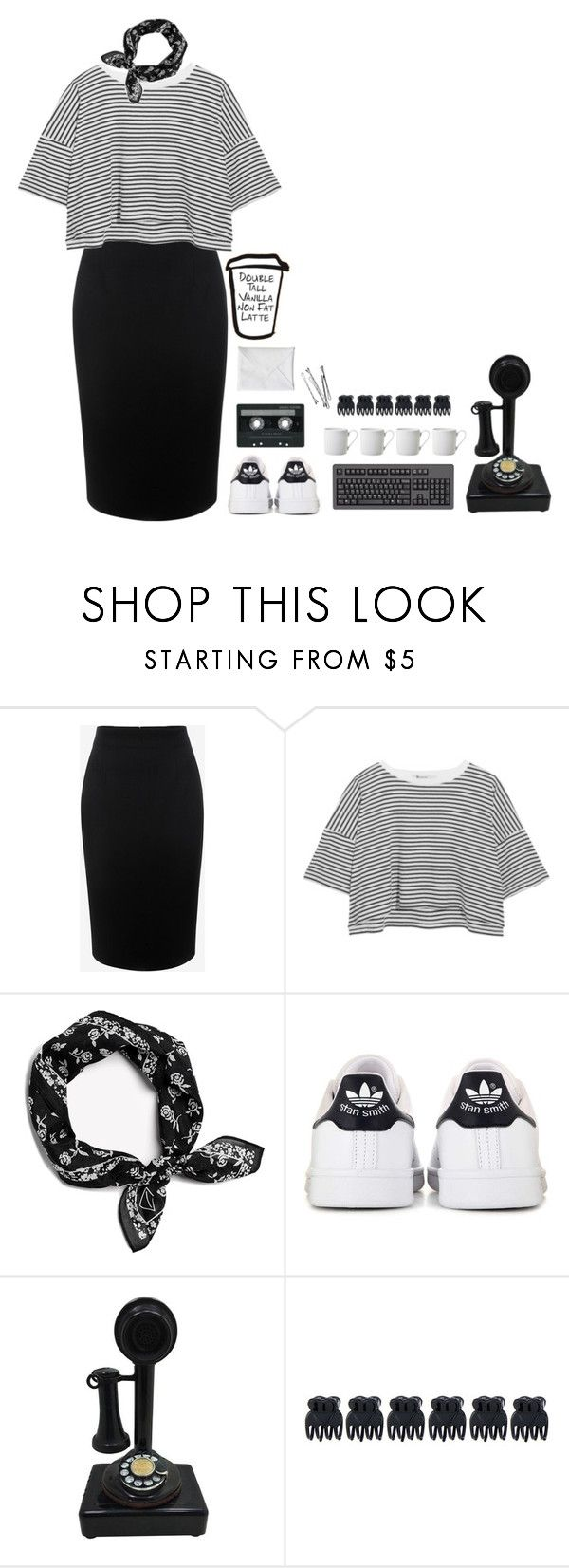 """""""Double tall vanilla non fat latte."""" by sabreerae ❤ liked on Polyvore featuring Alexander McQueen, T By Alexander Wang, rag & bone, adidas, CASSETTE, Accessorize and LSA International"""