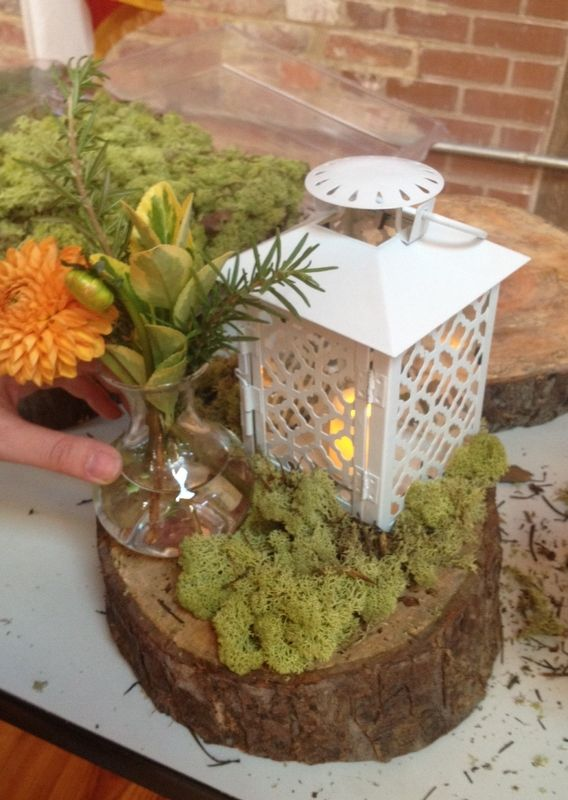But with a rust colored lantern instead wedding ideas