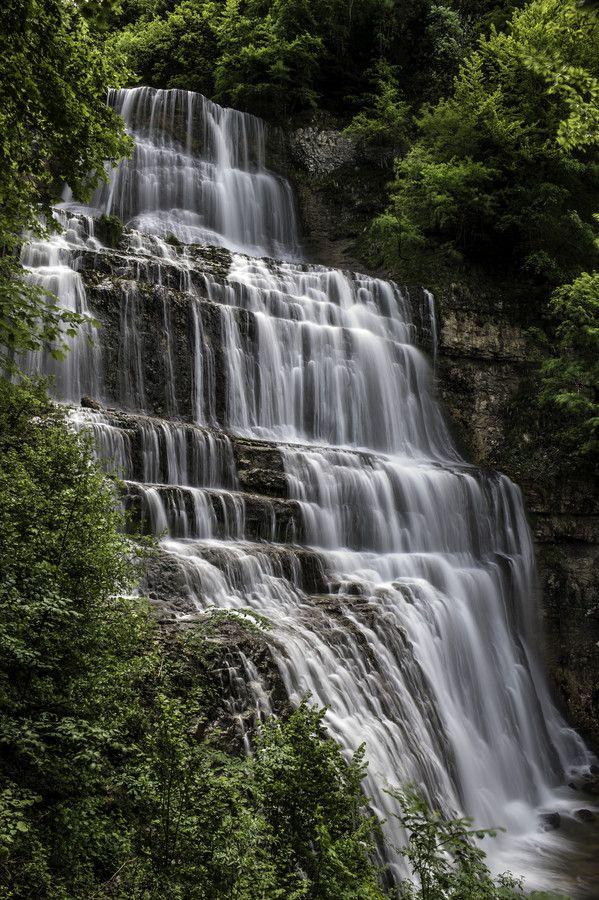 La cascade de l'Eventail, l'une des plus belle cascade du Jura | Cascades du Hérisson | Jura, France | #JuraTourisme