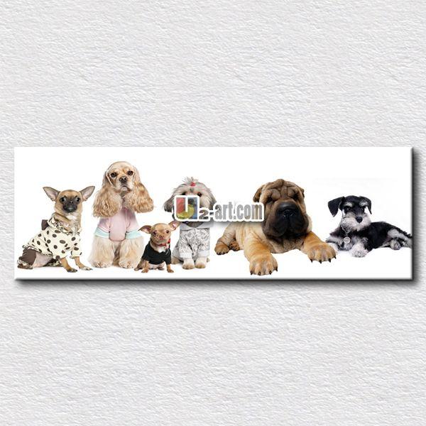 Интересный собаки живопись для детей подарок повесить на их комната собака отпечатки на холсте честный символ 40 см x 120 см