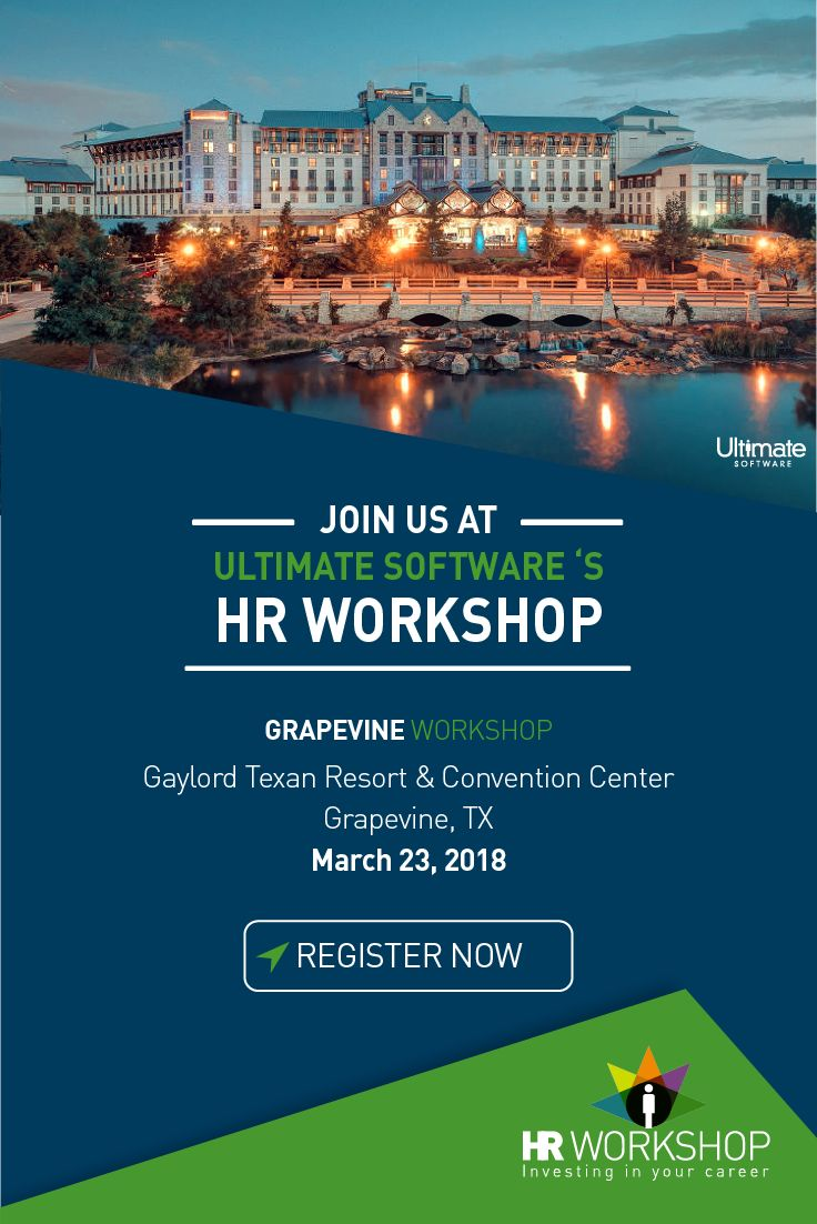 HR Leaders! Join us 3/23 in Dallas to see how Ultimate Software's groundbreaking AI platform can enhance the employee experience & drive organizational improvement. Reserve your spot for this complimentary workshop now: http://ulti.pro/2C4GJcn