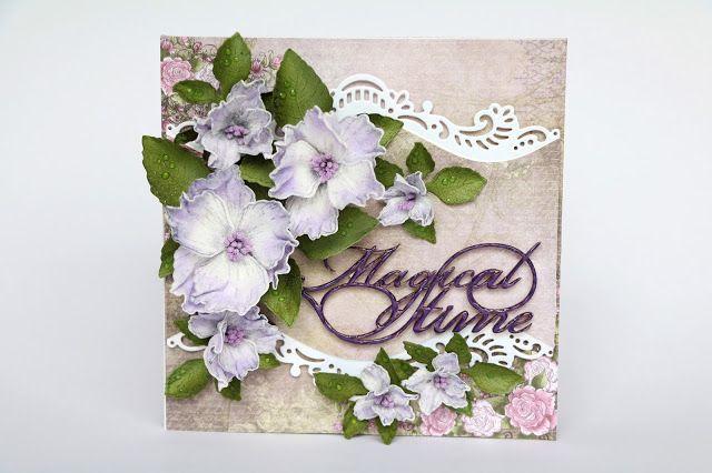 Elina Cardmaking Hobby: Magical Time Card Heartfelt Creation DT
