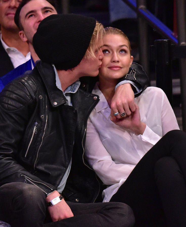 Gigi Hadid and Cody Simpson at Knicks Game April 2015 | POPSUGAR Celebrity