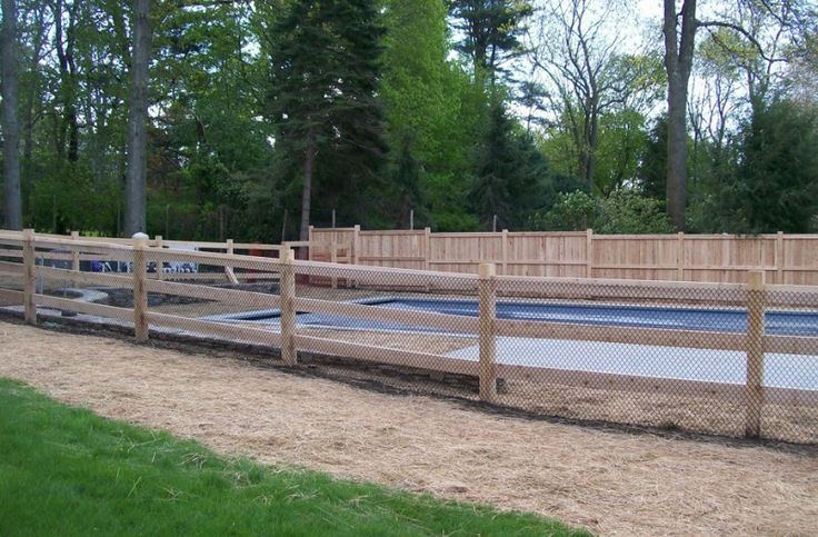 how to build a round post and rail fence