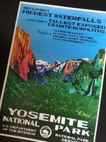 Йосемити калифорния Карта Винтаж Путешествия Плакат Классический Ретро Крафт…