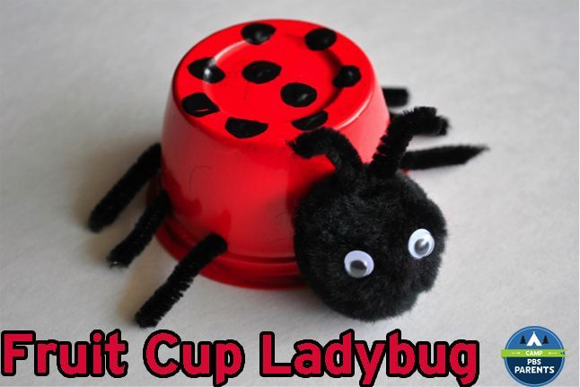Ladybugs are such adorable bugs! Head over to PBS Parents where I'm sharing a tutorial of how to turn a recycled plastic fruit cup into a ladybug craft. Follow I Heart Crafty Things on Facebook, Pinterest, Google+, Twitter, and Instagram!