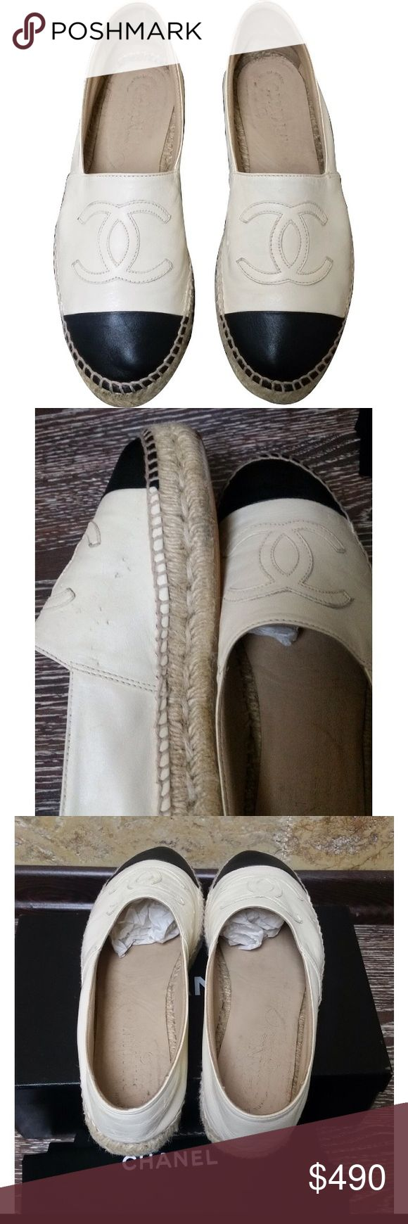Chanel espadrilles Chanel espadrilles has very little marking from dog can't see very well leather hardly ever worn CHANEL Shoes Espadrilles