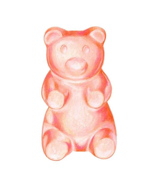 Kendyll Hillegas Gummy Bear Pink Orange In 2021 Gummy Bears Bear Wallpaper Bear Art
