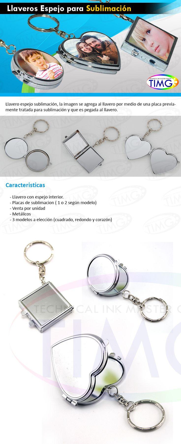 Llaveros espejos sublimables personalizables estan disponibles http://www.suministro.cl/product_p/1061080001.htm