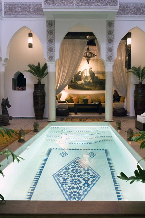 Marrakesh, Morocco. That's exactly the kind of house I wanna have later. Makes me proud to be Moroccan
