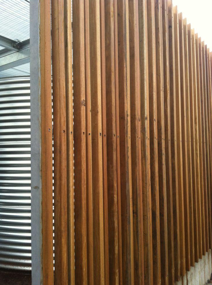 Image Result For Timber Batten Fence Fence Design