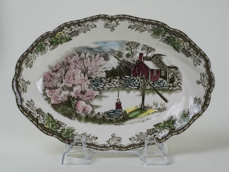 Johnson Brothers  The Friendly Village  The Well, Relish, Gravy Under Plate Dish