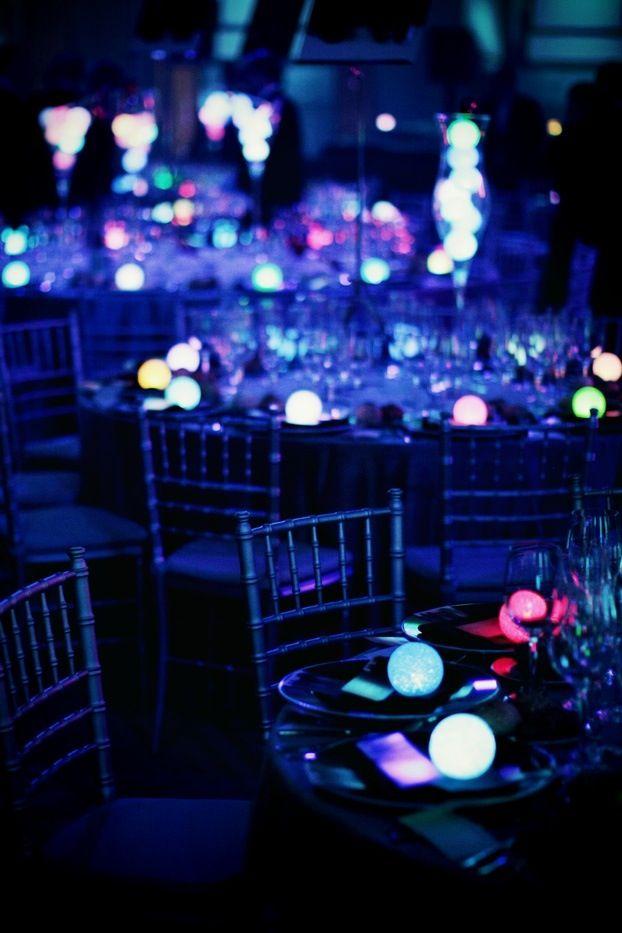 Glow In The Dark Wedding Wedding Decor Pinterest