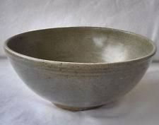 Fine Large Antique 15/16th c. Thai Sawankhaloke Celedon Green Glazed Deep Bowl $420