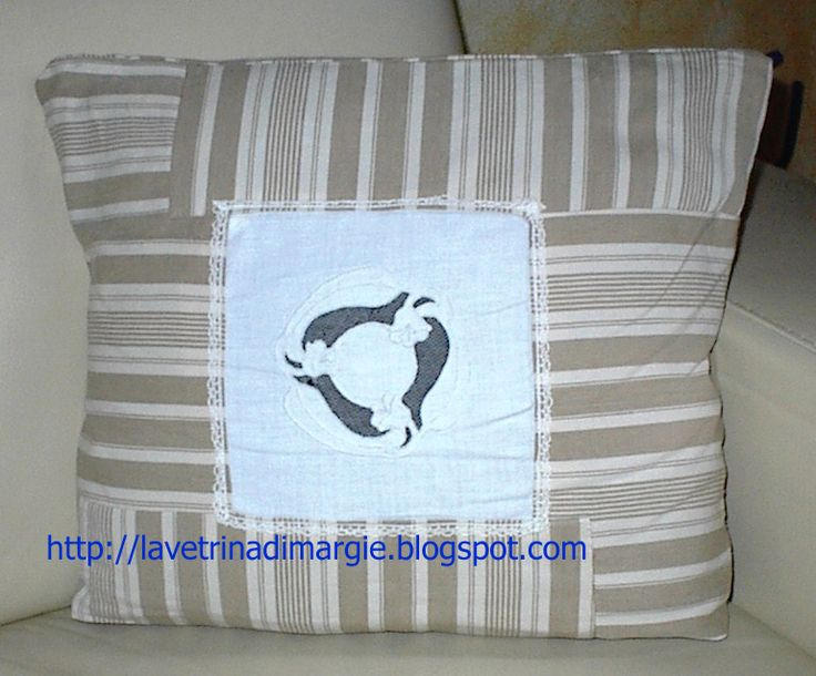 pillow shabby with old embroideries